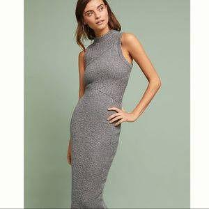 NWT ANTHROPOLOGIE Tracy Reese Ribbed Midi Dress